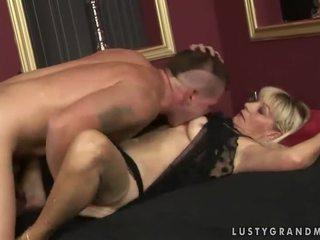 Naughty grandma gets fucked pretty hard