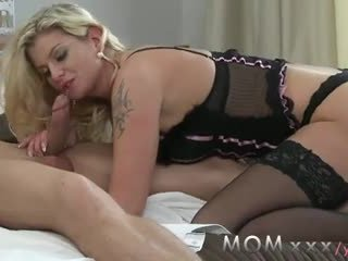 milf Hairy cock love blonde mom