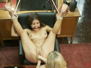 Aiden Starr - 20 year old double fisted for the first time!