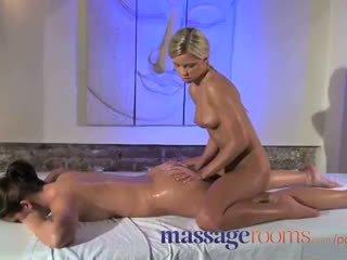 Hieronta rooms klit hieroa varten hänen orgasmia kanssa masseuse