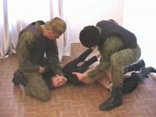 hommes, armée, deux