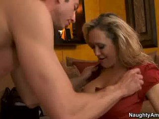 Cougar BRAndi Love Thumps An Awesome Weenie All Rigid In Her Juicy Hot Mouth