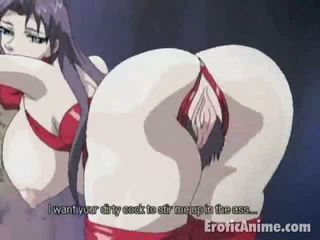 Charming brunetė manga
