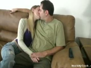 Amanda Enjoys Jerking Her First Date