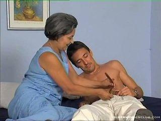 oral seks, olgun, yaşlı lady