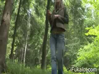 outdoors smoking dong in the forest