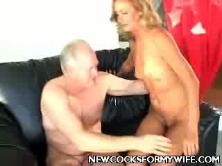Mature Wife Slurping a boner