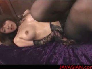 Mosaic; Asian girl blowjob and fingered