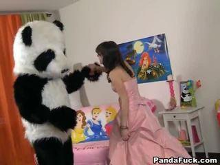 Teenaged fairy revived đồ chơi panda và cocksuck
