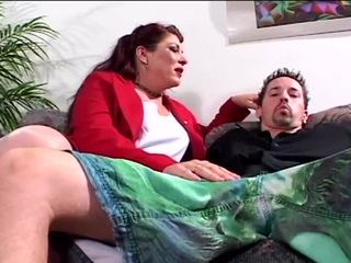 Hot milf gets pounded by son's dick.