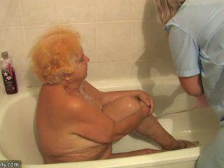 Starý kyprý grandmother having zkurvenej beside innocent osoba