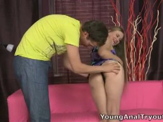 Blonde teen whore tight anal hardcore invasion