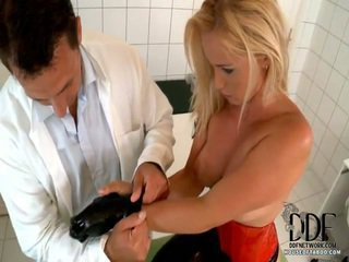 It Finally Becomes Clear In That Last Stage Of Dr. Nick Lang's Examination Of His Patient Kathia Nobili That His Prescription Is PENETRATION! And More PVC, As He Gives Her Cocoa Gloves Of That Mat
