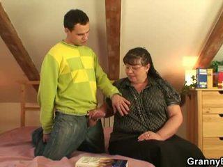 Granny Bet: Big busty granny fuck young boy.