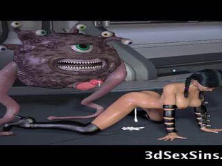 Ogres e aliens caralho 3d elf meninas!