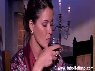 ブルネット, フェラチオ, 成熟した, イタリア語