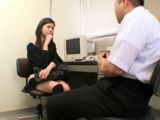 Spy babe caught stealing blackmailed 53