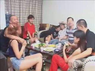 sesso di gruppo, moglie, hardsextube, cinese