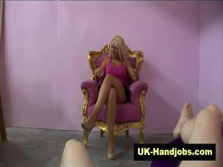 Princess blondie gets nasty giving handy