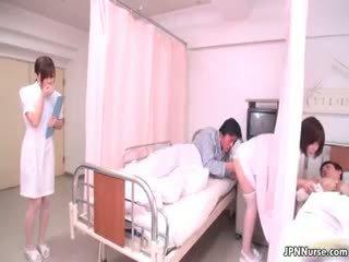 Tiny Japanese Nurse Giving A Blowjob Part4