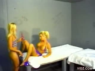 Lita and Allysin fuck inside the prisonhouse