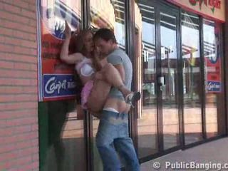 Having sex outside the supermarket Video