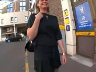 Coralie fransk eldre i strømper, anal knullet