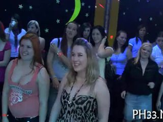 Lots of gangbang on dance floor