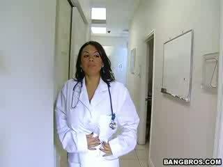 medic fulfills her nasty needs