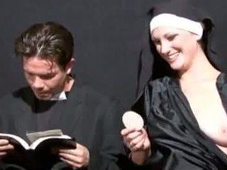 pissing, blowjob, fetišs, nun