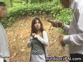 Amateur Glamorous Asian Babe Drilled Outdoor