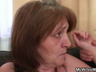 Horny guy bangs her GF's mom