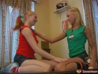 Teen Lesbian Nymphs Onto Pool Table