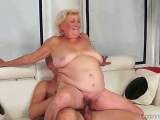 senas, senelė, blowjob, riebalai