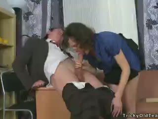 Young student fucking his horny teacher Video