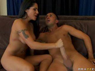 new brunette, hardcore sex, gyzykly blow job full