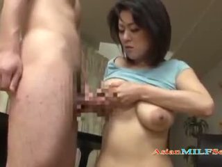 Milf With Milking Tits Fingered Sucking Young Guy Fucked Form Behind While Standing In The Sitting