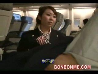 Stewardess neuken met passenger