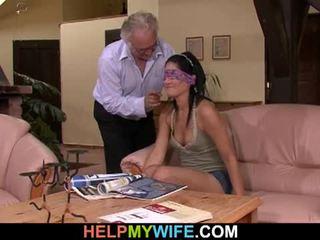 Vicious אישה gets מזוין ב מול של שלה בעל