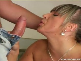 Busty Young Debby Suck A Large Prick