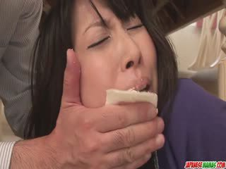 Housewife Chihiro Kitagawa Chokes On A Cock