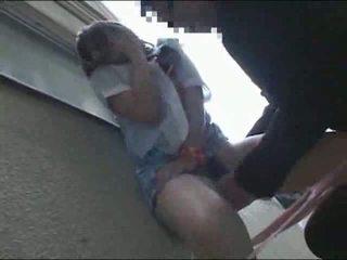 Japanese schoolgirl fucked outside Video