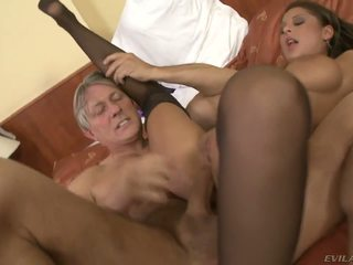 blowjob, big tits, old and young