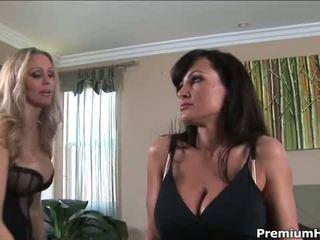 brunette, big boobs, blonde