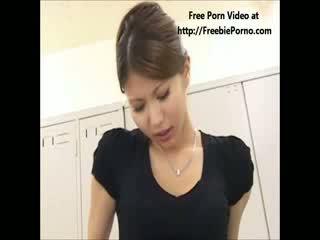 FreebiePorno.com japanese teacher giving school girl sex lesson part 2