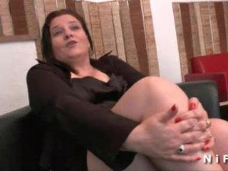 Bbw fransk eldre gets henne rumpe hammered