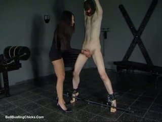 Slapping titi at ballbusting cbt