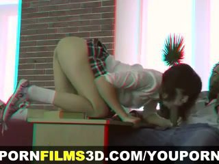 Porno film 3d - interrazziale anale tutoring in 3d