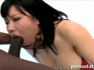 ポルノ static: アジアの ふしだらな女 ベイブ loves コック 吸い