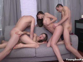 muda, cumshots, kumpulan seks